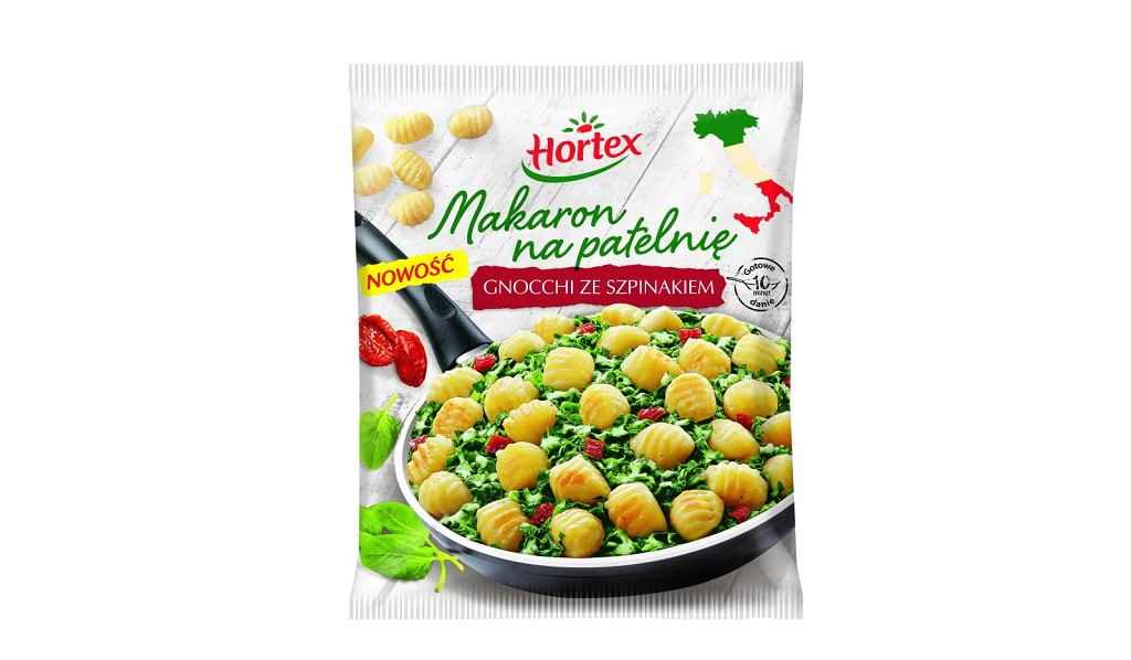 Gnocchi ze szpinakiem - nowy Makaron na patelnię Hortex