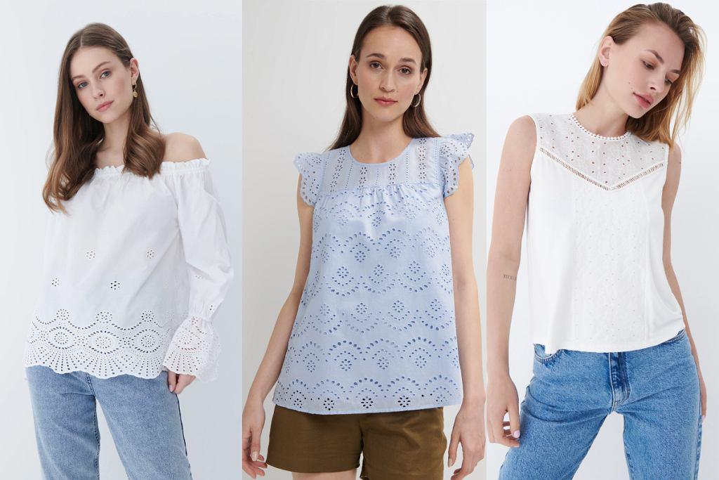 Ażurowe bluzki to nieustannie gorący trend