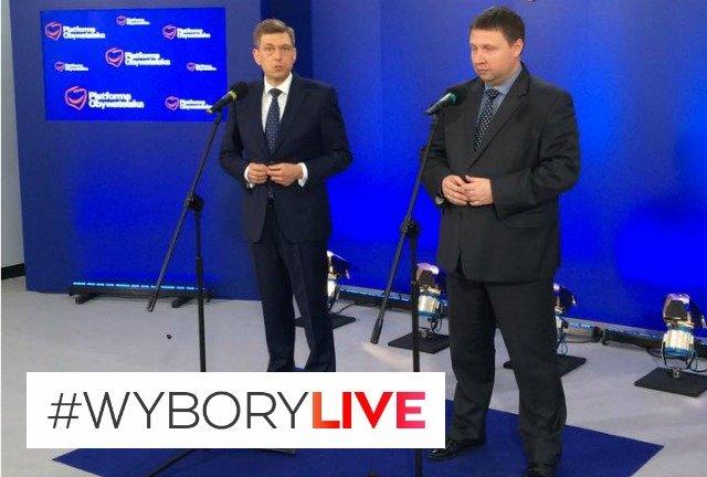 Mariusz WItczak i Marcin Kierwiński z PO