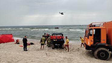 Akcja na plaży w Rozewiu