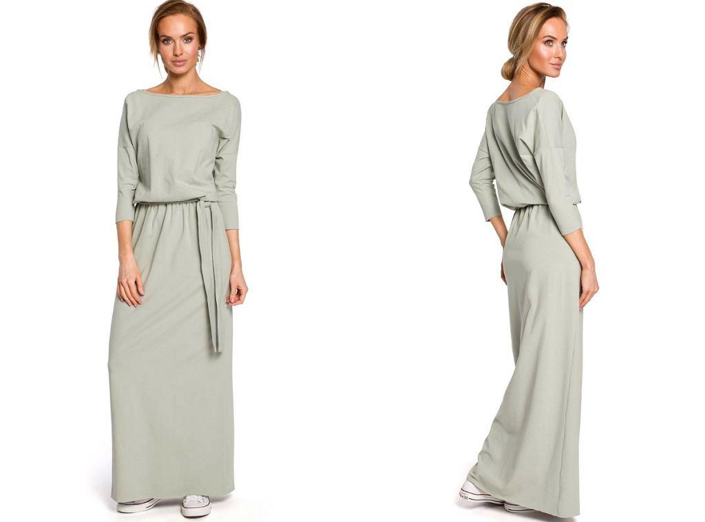 sukienka maxi z paskiem