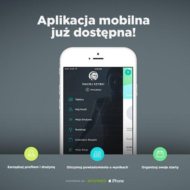Aplikacja mobilna LigaBiegowa.pl