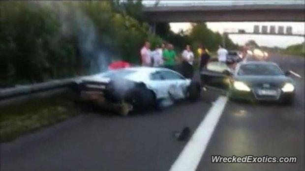 Lamborghini Murcielago zniszczone w Niemczech