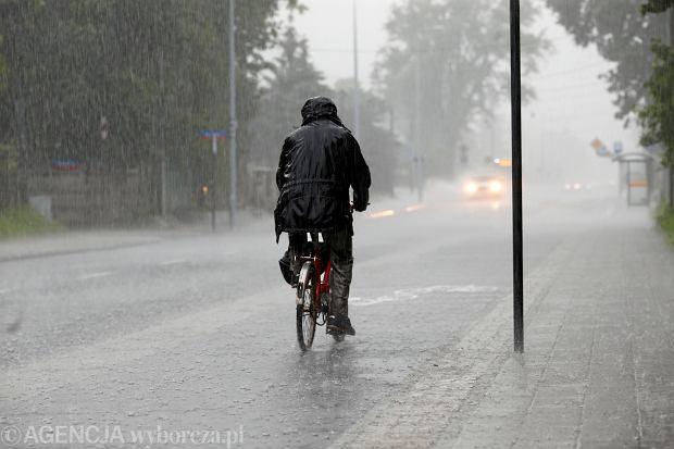 Burza i opady deszczu w Łodzi