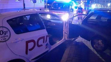 Kierowca wypożyczonego samochodu spowodował wypadek