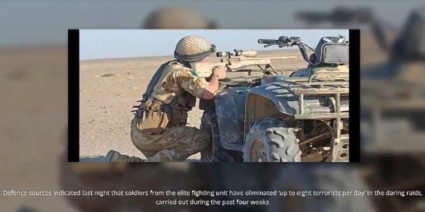 Trwa operacja SAS wymierzona w bojowników IS. Kadr z filmu: