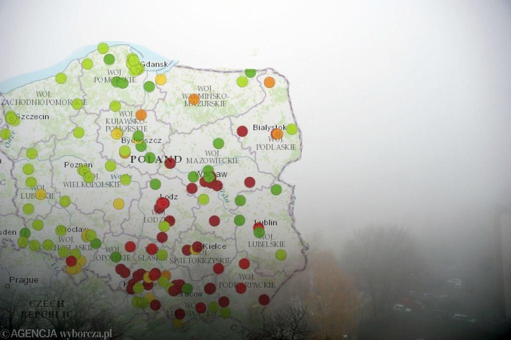 Smog. Zdjęcie ilustracyjne