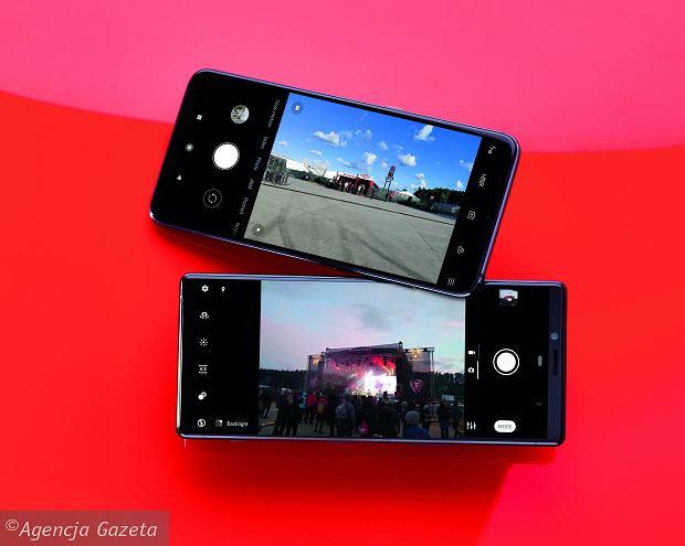 Xiaomi Mi9 (na górze), Sony Xperia 1 (na dole)