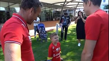 Lewandowski na spotkaniu z Kacprem z AMP Futbolu