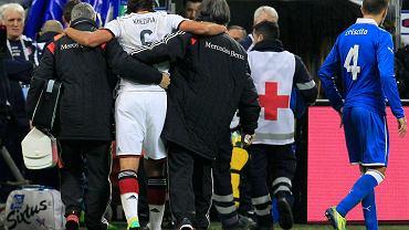 Sami Khedira kontuzjowany w meczu Włochy - Niemcy