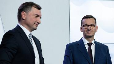 Zbigniew Ziobro i Mateusz Morawiecki.