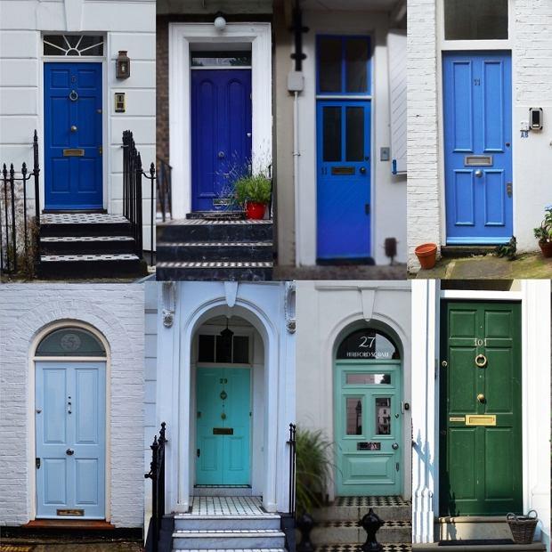 Kolorowe drzwi domów w Londynie w obiektywie Anny Pajerskiej