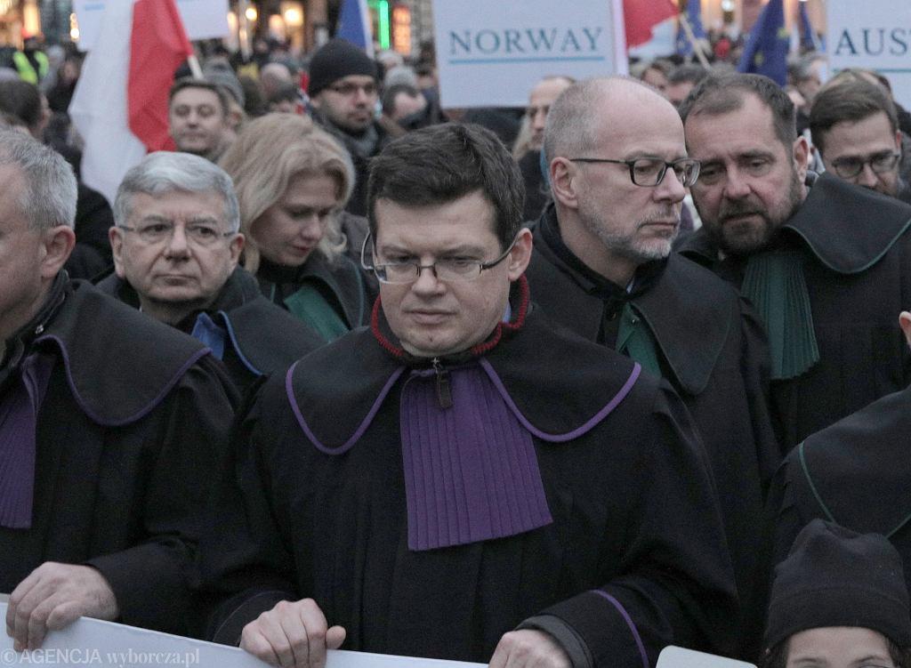 Sędzia Krystian Markiewicz podczas Marszu Tysiąca Tóg.