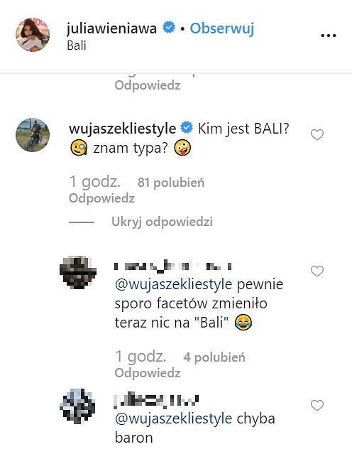 Komentarze pod postem Julii Wieniawy