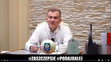 Burmistrz Michałowa Marek Nazarko zachęca do szczepień na koronawirusa