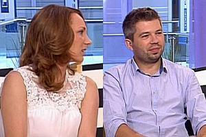 Paweł Szakiewicz z żoną Martyną