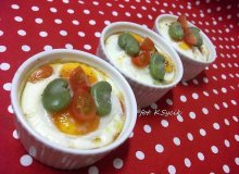 Jajka zapiekane z bobem i pomidorkami koktajlowymi - ugotuj