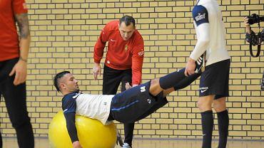 Radosław Janukiewicz, Boris Pesković i Dawid Kudła podczas treningu w hali