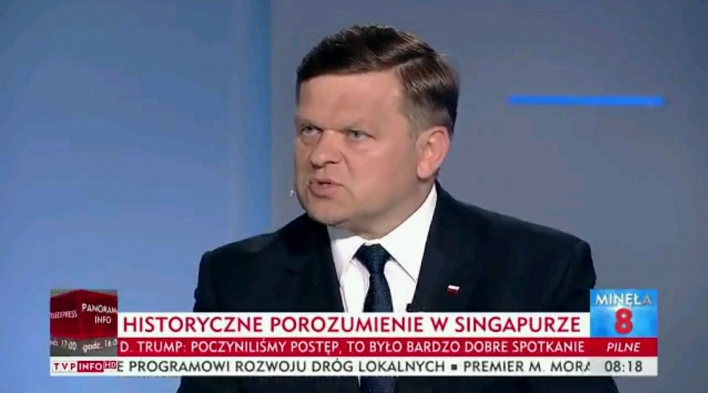 Wojciech Skurkiewicz w TVP Info o roli Polski w spotkaniu Kim Dzong Un - Donald Trump