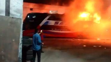 Peru. Pożar autobusu w Limie. Nie żyje co najmniej 20 osób