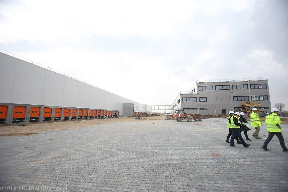 Centrum dystrybucyjne Zalando (zdjęcie z marca, jeszcze z placu budowy)