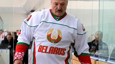 Alaksandr Łukaszenka na lodowisku w Soczi, 7 lutego 2020.