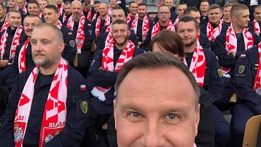 Mundial 2018. Andrzej Duda ogląda mecz Polska - Senegal