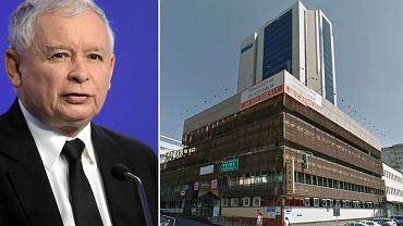 Jarosław Kaczyński, ul. Nowogrodzka, przy której mieści się siedziba PiS