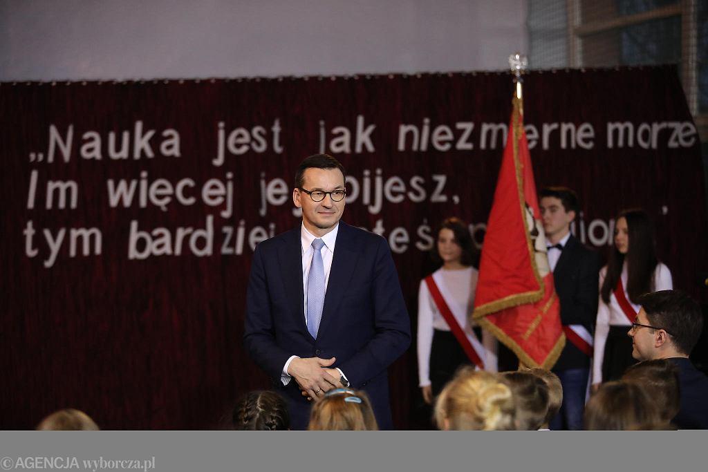 Wola Filipowska. Premier Mateusz Morawiecki otworzył nowe skrzydło szkoły