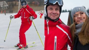 Czerwony kombinezon widać było z daleka. Ale dopiero, kiedy narciarz podjechał bliżej i zdjął gogle można było przekonać się, że ten uśmiechnięty i zrelaksowany człowiek to prezydent Andrzej Duda. Nie miał nic przeciwko pamiątkowym zdjęciom z turystami.