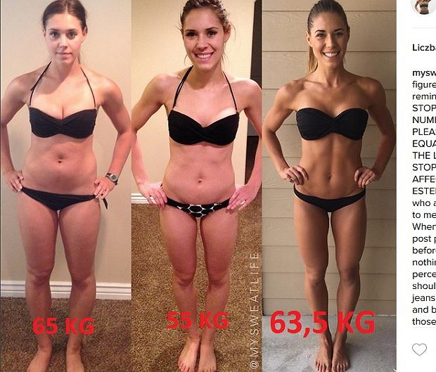 Uwierzysz, że to tylko 1,5 kg różnicy pomiędzy 1 i 3 zdjęciem?
