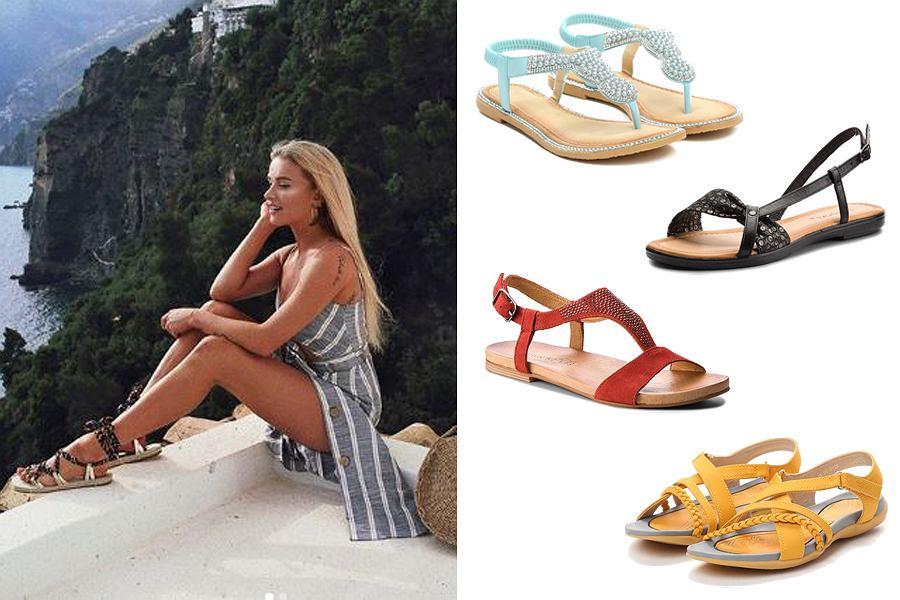 Kolaż, sandały/Materiały partnera