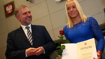 Marszałek Marek Woźniak i Marta Walczykiewicz przed igrzyskami Rio 2016