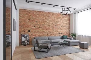 Nowoczesna aranżacja: minimalizm i ceglane ściany