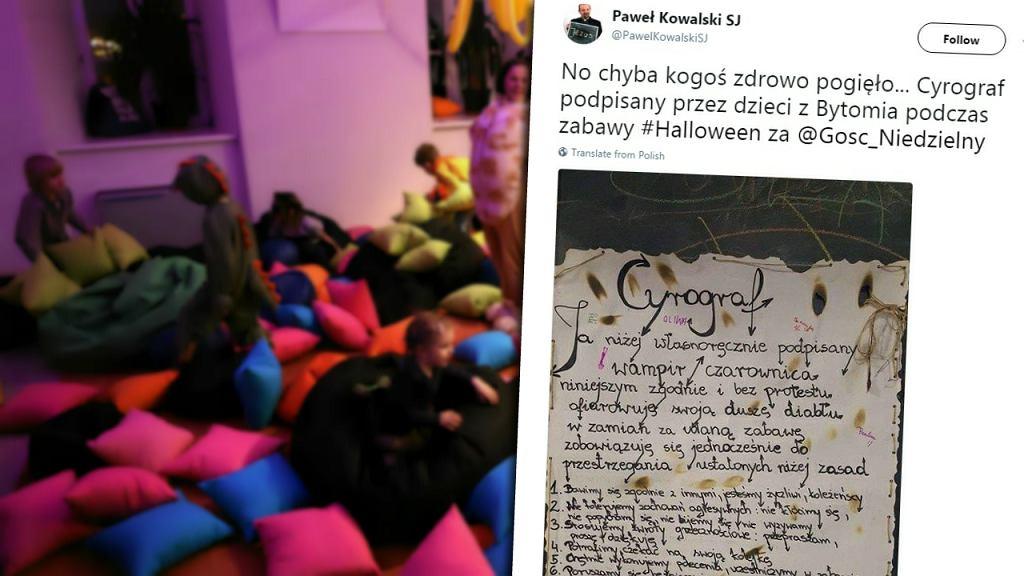 Cyrograf w sali zabaw