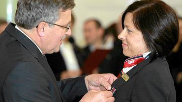 Magdalena Gortat odznaczana przez prezydenta Bronisława Komorowskiego