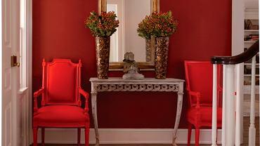 Wnętrze w czerwonym kolorze, farby Benjamin Moore