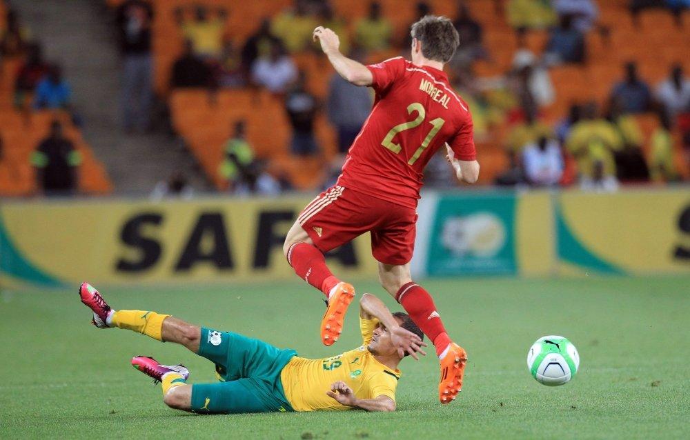 Daylon Claasen z meczu z Hiszpanią