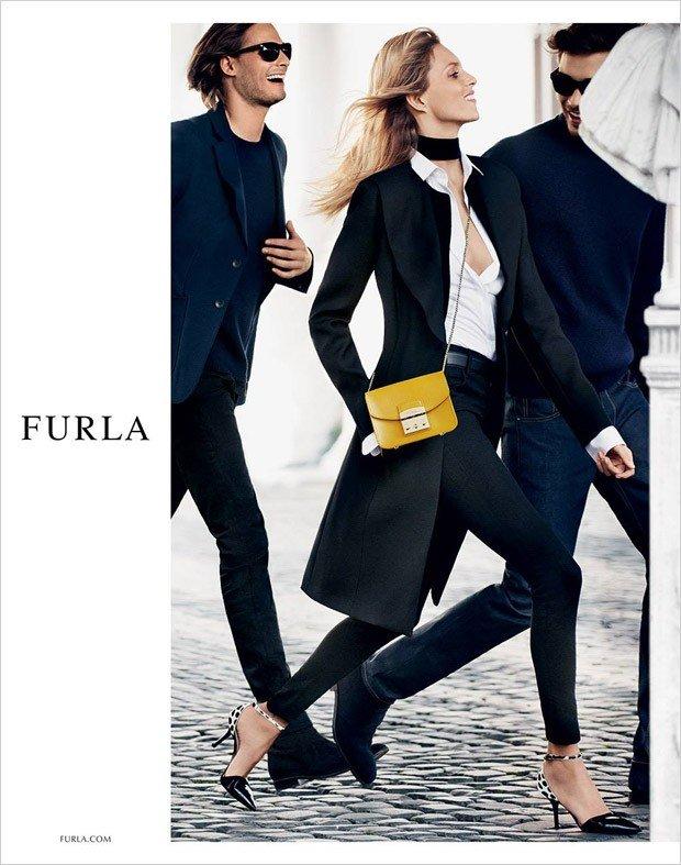 Anja Rubik w kampanii Furla jesień-zima 2015