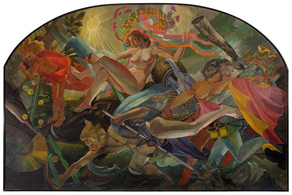 / Zofia Stryjeńska, Woda, 1928, tempera, Muzeum Narodowe w Warszawie