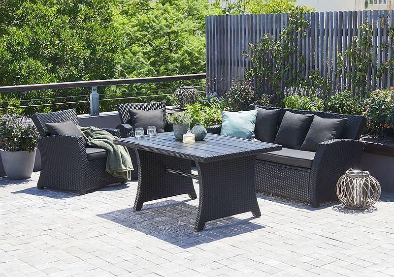 Zestaw wypoczynkowy idealny do ogrodu lub na taras
