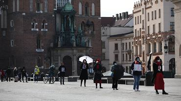 Protest przeciwko zaostrzeniu ustawy antyaborcyjnej w Krakowie.