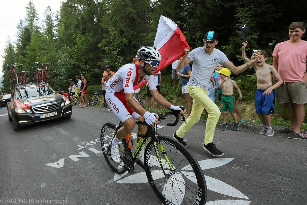 Michał Kwiatkowski dwa tygodnie temu wygrał Tour de Pologne. Teraz błyszczy w Hiszpanii