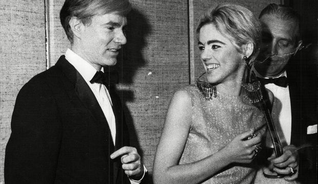 Mandatory Credit: Photo by Associated Newspapers /REX (1735313a)  Andy Warhol Artist And Edie Sedgwick Actress At Vidal Sassoons New York Launch Party 1965.   Andy Warhol Artist And Edie Sedgwick Actress At Vidal Sassoons New York Launch Party 1965.