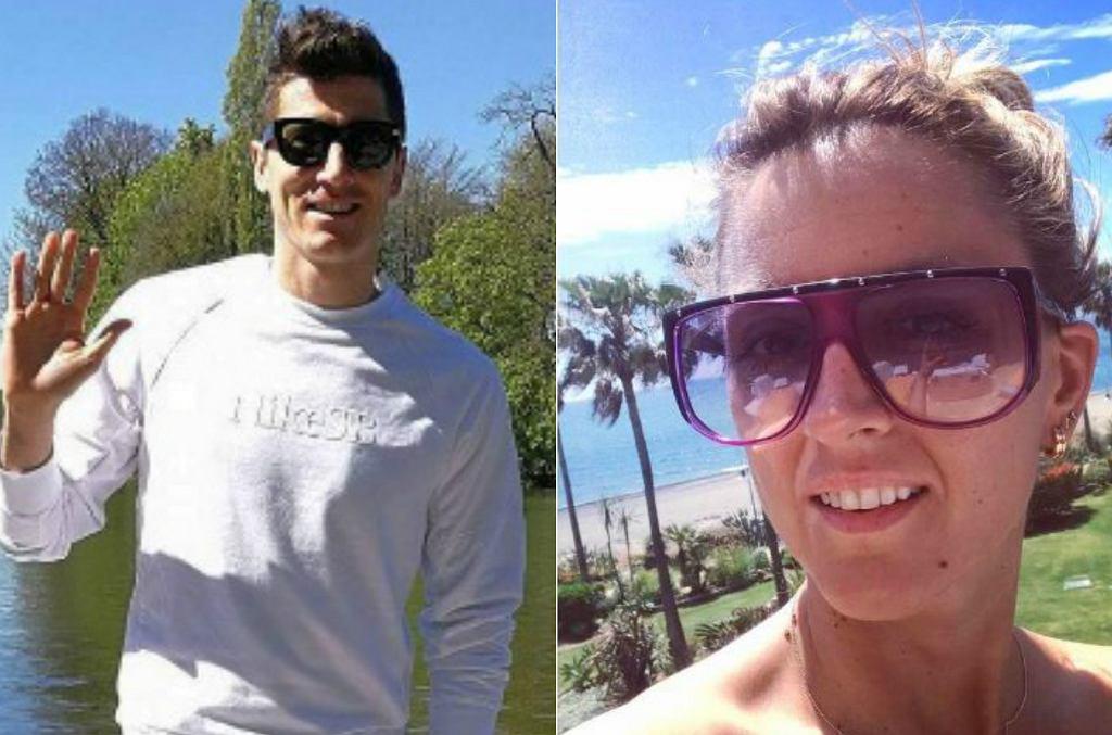 Robert Lewandowski i Karolina Szostak