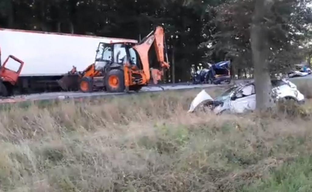 Nagranie z miejsca, gdzie doszło do karambolu na drodze DK6