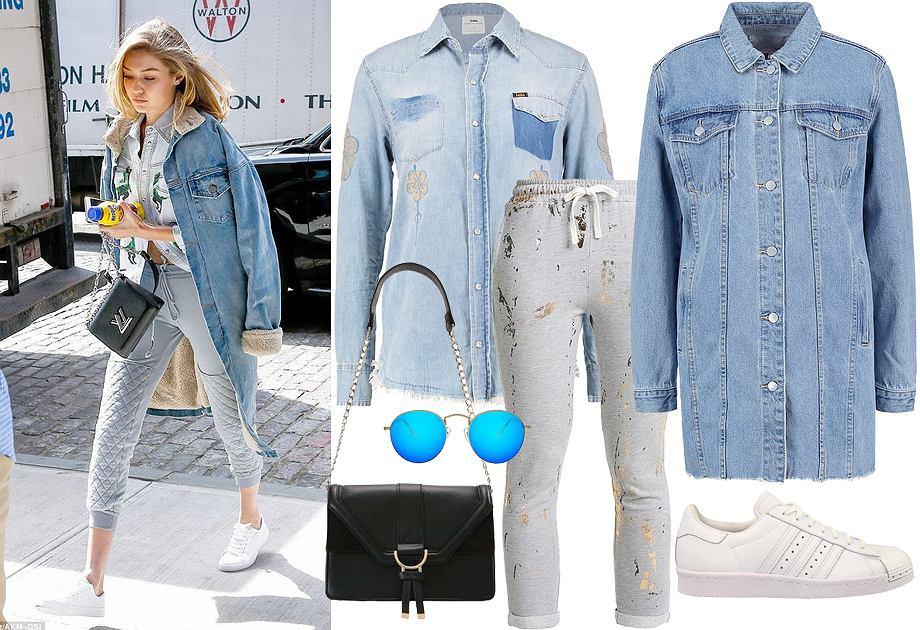 Spodnie dresowe na co dzień - stylizacja Gigi Hadid