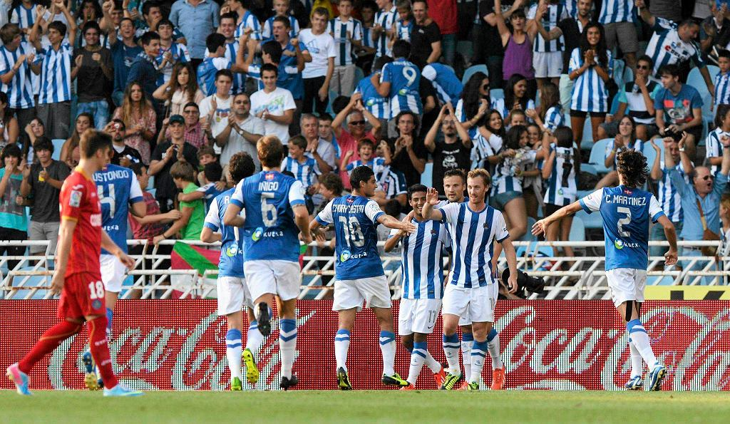 Radość piłkarzy Realu Sociedad