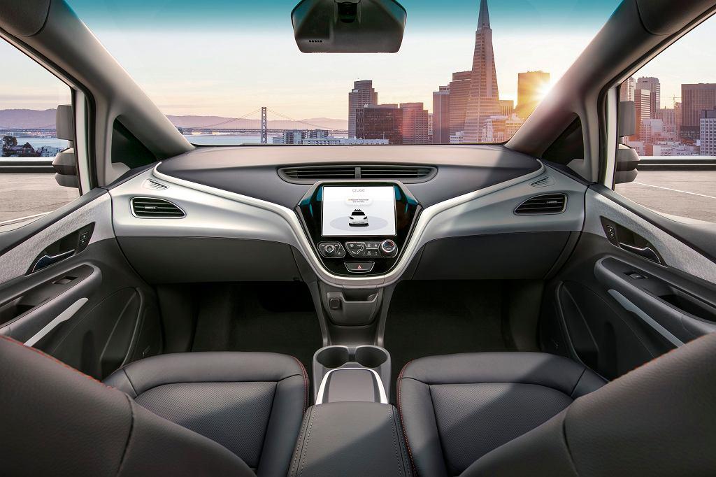 Projekt samochodu autonomicznego General Motors, bez kierownicy i pedałów.
