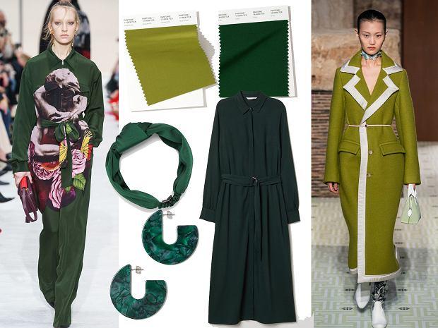 Zielenie w kolekcjach Valentino, Lanvin, ZARA oraz H&M